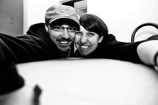 Laura and I after a few beers, and a tequila or two.