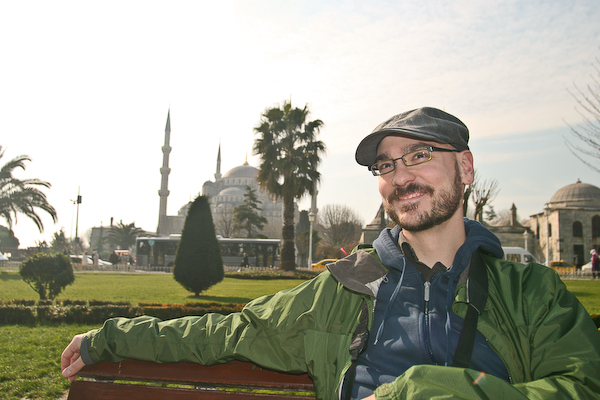Tourists snapping shots in front of the Blue Mosque is also an everyday occurrence in Istanbul.