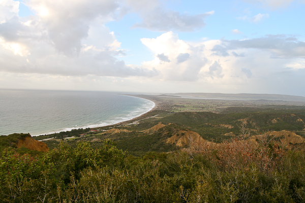 The view of the Aegean Sea from the First World War site, the Nek, one of the highest points in Gallipoli National Park.