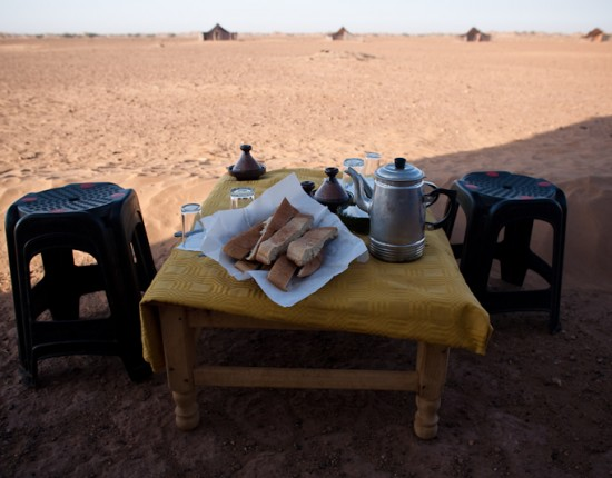Our last meal. Before the desert at least. Bread, tea, confections like jam and butter. That was pretty much it for breakfasts.