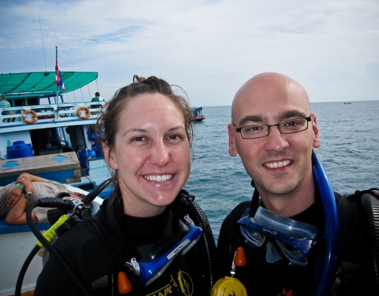 Wee've done our four dives, and are certified PADI open water divers. Next stop: the advanced open water course. Woot.