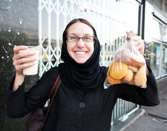 Laura's favourite things in Iran: banana milkshake and baked goods sweetened with things like rose and honey.