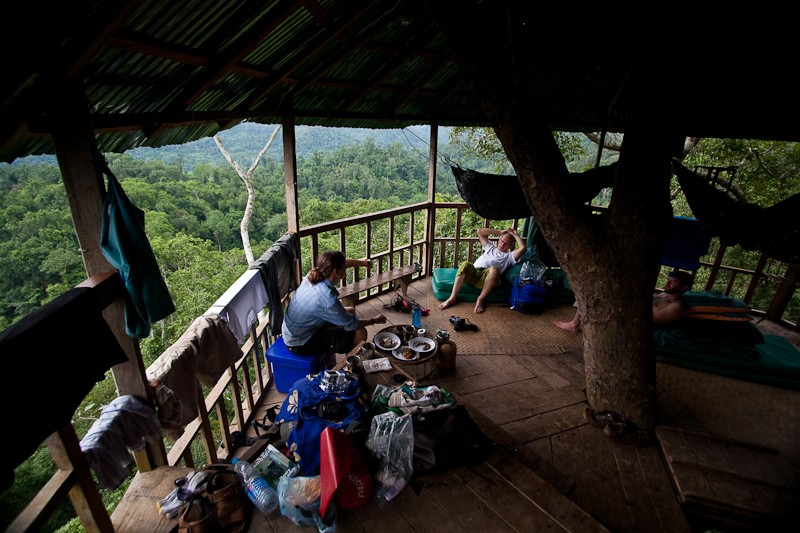 Our home for two nights in the Bokeo rainforest. The only way in or out of the treehouse is by zip line.