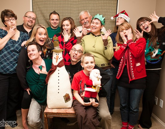The gang who made up our Christmas party!