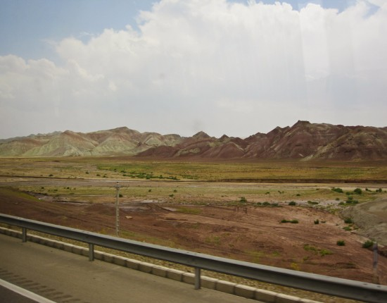 Northwestern Iran landscape, somewhere between Tabriz and Zanjan.