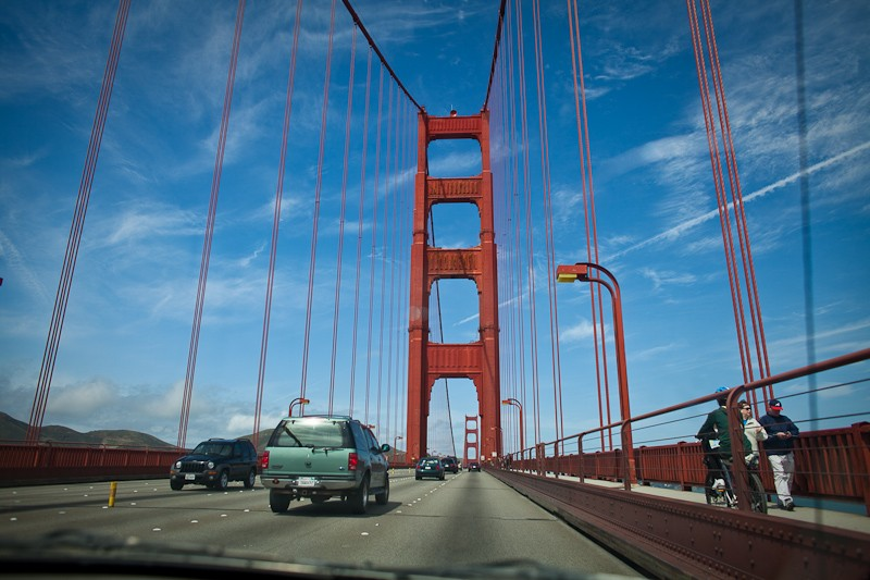 Driving across the Golden Gate bridge was a big deal for a couple yokels like us. Woo hoo.