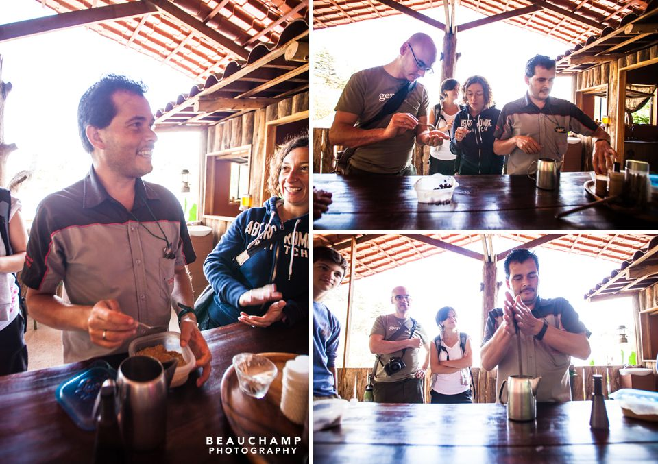 Our tour guide prepares the traditional hot chocolate. Chris and I loved it, but most of the tour found it too bitter. You have to like dark chocolate to appreciate the true taste of cocoa before milk and sugar are added.