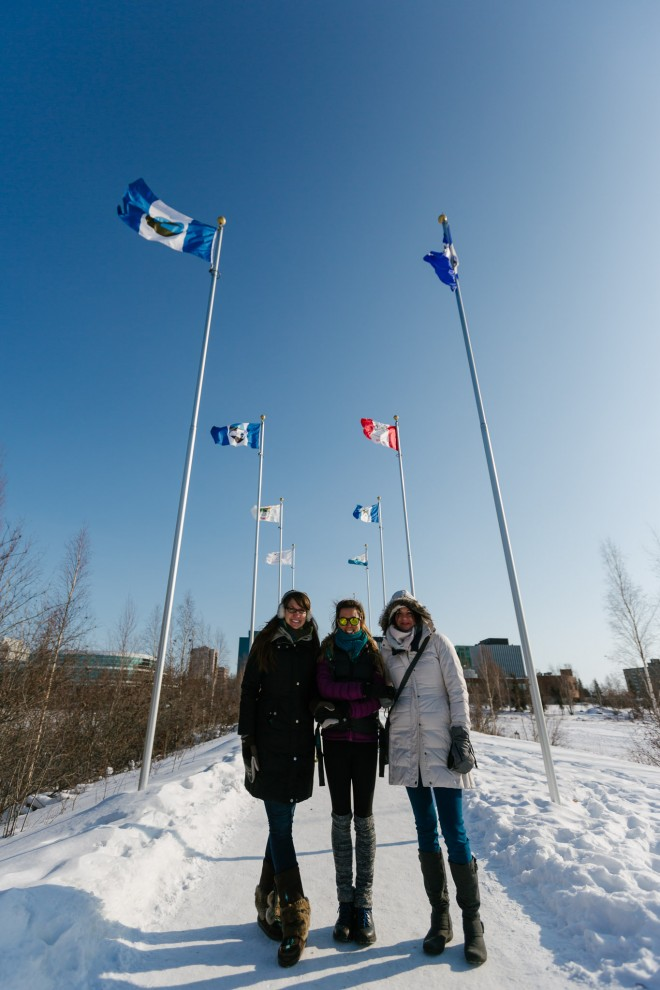 We're in Yellowknife! For our first day of exploration, we checked out the local museum and then tried our hands at flying the kites for kite skiing.