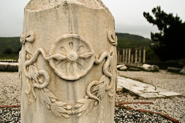 Snakes, the symbol of health and medicine, found at the ancient health centre of Asklepion in Bergama, Turkey.