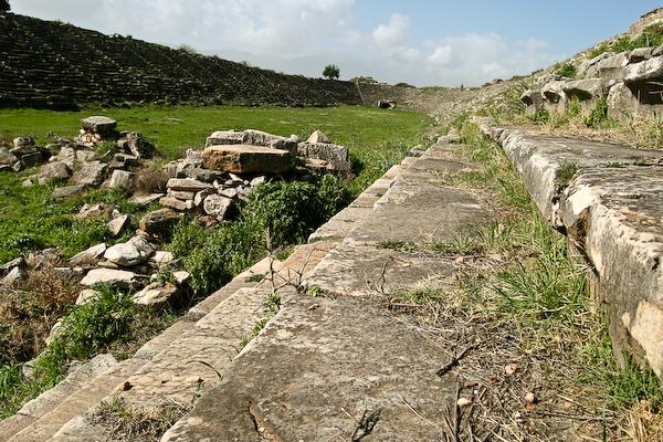 Stadium at the ancient site of Afrodisias.