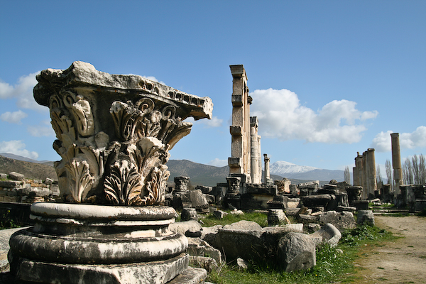 Aphrodite's temple at the ancient site of Afrodisias.