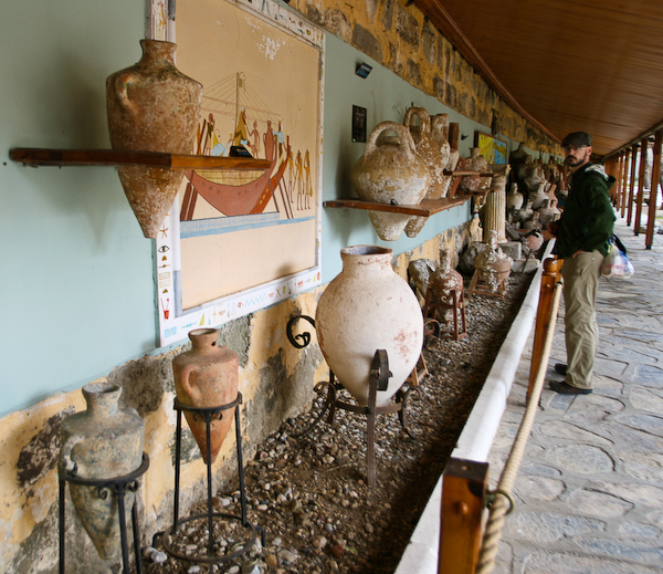 Amphora's at the Bodrum castle museum.