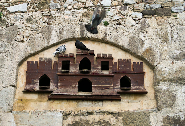 Pigeon home at Bodrum castle museum.