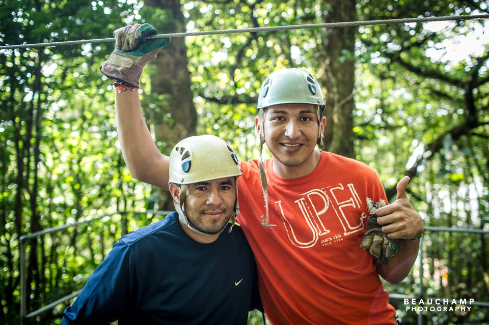 Our zipline guides at Selvatura.