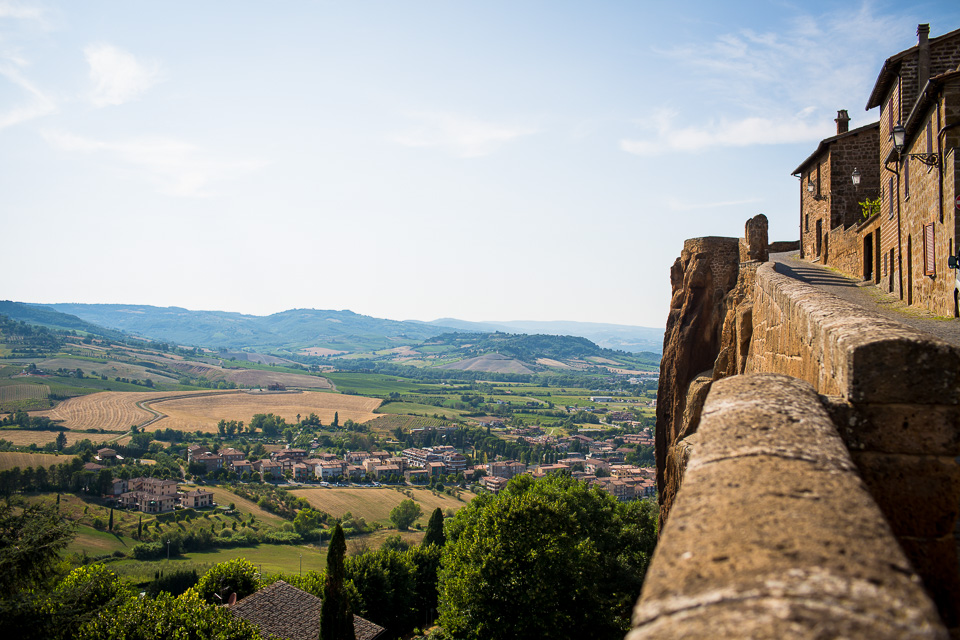 The view southwest from the walls of Orvieto.
