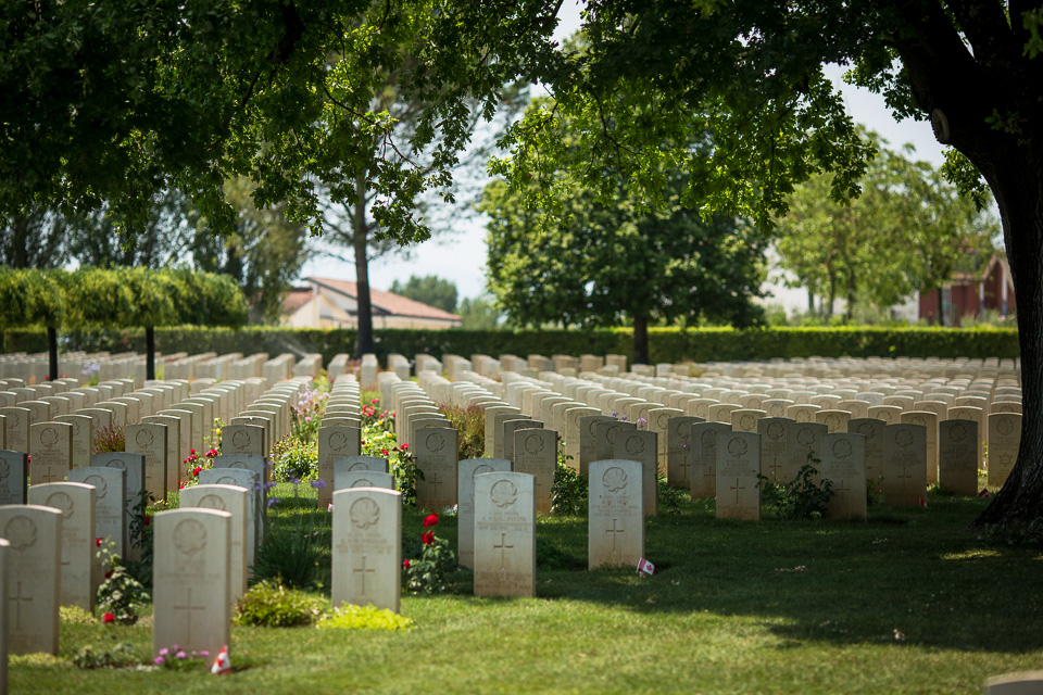 The next day we visited the Commonwealth War Cemetery here, which had a sizeable Canadian section. Thousands lost their lives fighting over this strategic choke point in the road to Rome. There are also American, Polish, and German war cemeteries around Cassino.